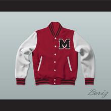William McKinley High School Red Varsity Letterman Jacket-Style Sweatshirt