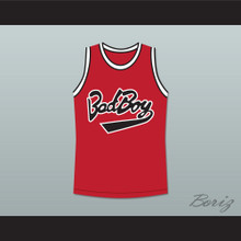 Notorious B.I.G. 97 Bad Boy Red Basketball Jersey New