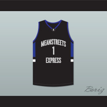 Derrick Rose 1 Mean Streets Express Black Basketball Jersey