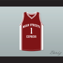Derrick Rose 1 Mean Streets Express Maroon Basketball Jersey AAU