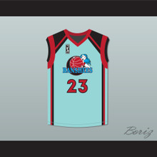 Angie Cossey Natalie Kemper 23 Charlotte Banshees Home Basketball Jersey with WUBA Patch Juwanna Mann