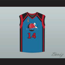 Vivica A. Fox Michelle Langford 14 Charlotte Banshees Away Basketball Jersey with WUBA Patch Juwanna Mann
