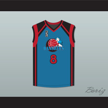 Larkin 8 Charlotte Banshees Away Basketball Jersey with WUBA Patch Juwanna Mann