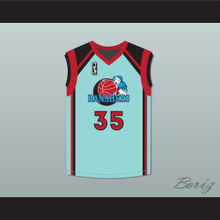 Heather Quella Magda Rowonowitch 35 Charlotte Banshees Home Basketball Jersey with WUBA Patch Juwanna Mann