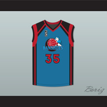 Heather Quella Magda Rowonowitch 35 Charlotte Banshees Away Basketball Jersey with WUBA Patch Juwanna Mann