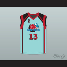 Tammi Reiss Vicki Sanchez 13 Charlotte Banshees Home Basketball Jersey with WUBA Patch Juwanna Mann