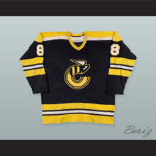 WHA 1975-76 Claude Larose 8 Cincinnati Stingers Hockey Jersey