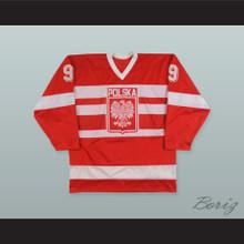 1988 Jarolsaw Morawiecki 9 Team Poland Hockey Jersey