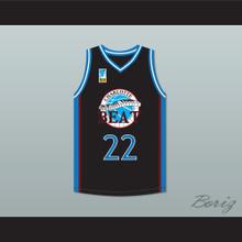 Rasheed Wallace Whitley 22 Charlotte Beat Home Basketball Jersey with UBA Patch Juwanna Mann
