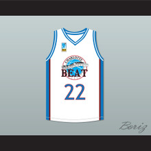 Rasheed Wallace Whitley 22 Charlotte Beat Away Basketball Jersey with UBA Patch Juwanna Mann