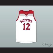 Zion Williamson 12 Spartanburg Day School Griffins White Basketball Jersey 1