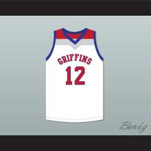 Zion Williamson 12 Spartanburg Day School Griffins White Basketball Jersey 3