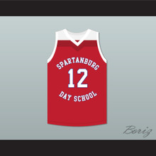 Zion Williamson 12 Spartanburg Day School Griffins Red Basketball Jersey 1