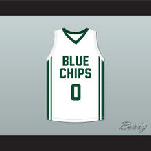 Lebron James Jr 0 Blue Chips White Basketball Jersey 1