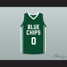 Lebron James Jr 0 Blue Chips Green Basketball Jersey 2