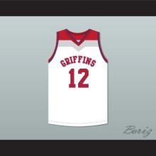 Zion Williamson 12 Spartanburg Day School Griffins White Basketball Jersey 6