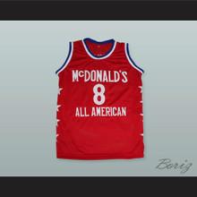 Kobe Bryant 8 McDonald's All American Red Basketball Jersey