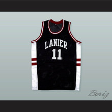 Monta Ellis 11 Lanier High School Bulldogs Black Basketball Jersey