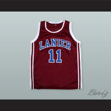 Monta Ellis 11 Lanier High School Bulldogs Maroon Basketball Jersey