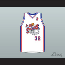 Jimmer Fredette 32 Shanghai Sharks White Basketball Jersey with CBA Patch