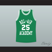 The Fresh Prince of Bel-Air Alfonso Ribeiro Carlton Banks Bel-Air Academy Green Basketball Jersey