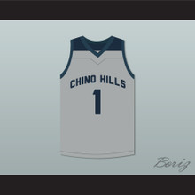 LaMelo Ball 1 Chino Hills High School Huskies Gray Basketball Jersey