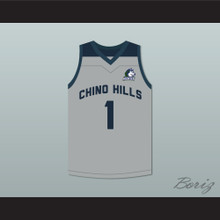 LaMelo Ball 1 Chino Hills Huskies Gray Basketball Jersey with Patch
