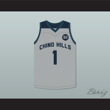 LaMelo Ball 1 Chino Hills Huskies Gray Basketball Jersey 92 Points