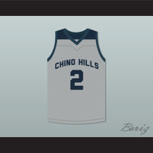 Lonzo Ball 2 Chino Hills High School Huskies Gray Basketball Jersey