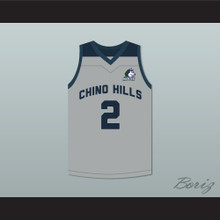 Lonzo Ball 2 Chino Hills Huskies Gray Basketball Jersey with Patch