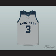 LiAngelo Ball 3 Chino Hills High School Huskies Gray Basketball Jersey
