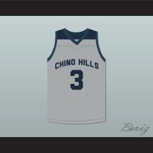 LiAngelo Ball 3 Chino Hills Huskies Gray Basketball Jersey