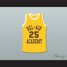 The Fresh Prince of Bel-Air Alfonso Ribeiro Carlton Banks Bel-Air Academy Yellow Basketball Jersey