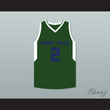 Lonzo Ball 2 Chino Hills Huskies Green Basketball Jersey