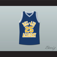 The Fresh Prince of Bel-Air Alfonso Ribeiro Carlton Banks Bel-Air Academy Blue Basketball Jersey