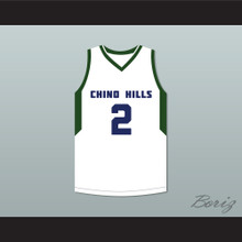 Lonzo Ball 2 Chino Hills High School Huskies White Basketball Jersey 2