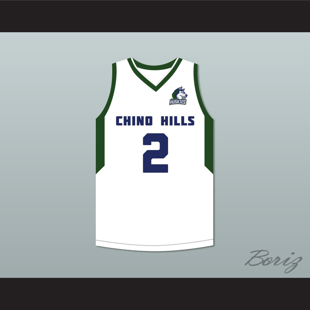hot sale online a850f 05a04 Lonzo Ball 2 Chino Hills Huskies White Basketball Jersey with Patch 2