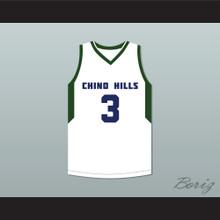 LiAngelo Ball 3 Chino Hills High School Huskies White Basketball Jersey 2