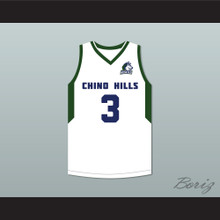 LiAngelo Ball 3 Chino Hills Huskies White Basketball Jersey with Patch 2