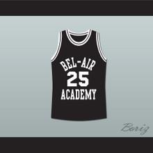 The Fresh Prince of Bel-Air Alfonso Ribeiro Carlton Banks Bel-Air Academy Black Basketball Jersey