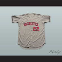 Denard Span 22 Rochester Red Wings Gray Baseball Jersey