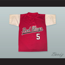 Cal Ripken Jr. 5 Rochester Red Wings Red Baseball Jersey