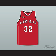 Jimmer Fredette 32 Glens Falls Indians Away Basketball Jersey with Patch