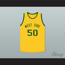 Shawn Kemp 50 West Side Elementary School Yellow Basketball Jersey