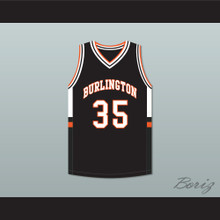 Tony Romo 35 Burlington High School Demons Black Basketball Jersey