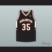 Tony Romo 35 Burlington High School Black Basketball Jersey with Patch