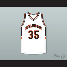 Tony Romo 35 Burlington High School Demons White Basketball Jersey