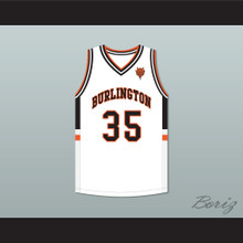 Tony Romo 35 Burlington High School White Basketball Jersey with Patch