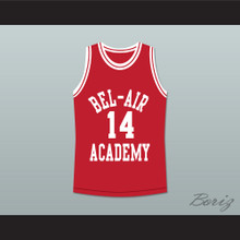 The Fresh Prince of Bel-Air Will Smith Bel-Air Academy Red Basketball Jersey