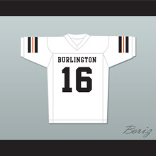 Tony Romo 16 Burlington High School Wisconsin White Football Jersey